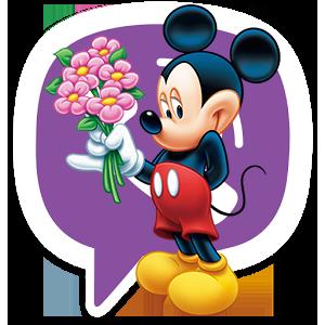 Новый Disney стикер для Viber Микки Маус